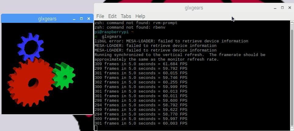 Raspberry Pi 3B - Turn on hardware to speed up OpenGL
