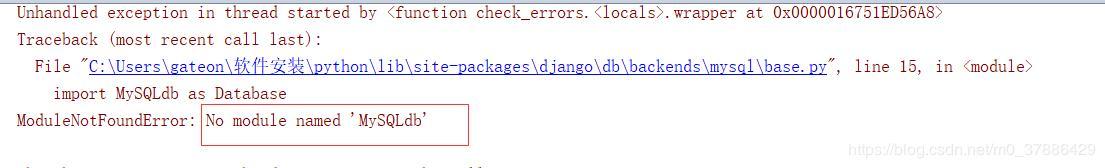 No module named 'MySQLdb' - Programmer Sought