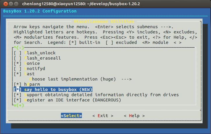 Busybox inittab format