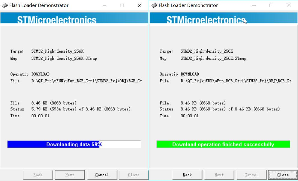 How to use the serial port to download programs for STM32