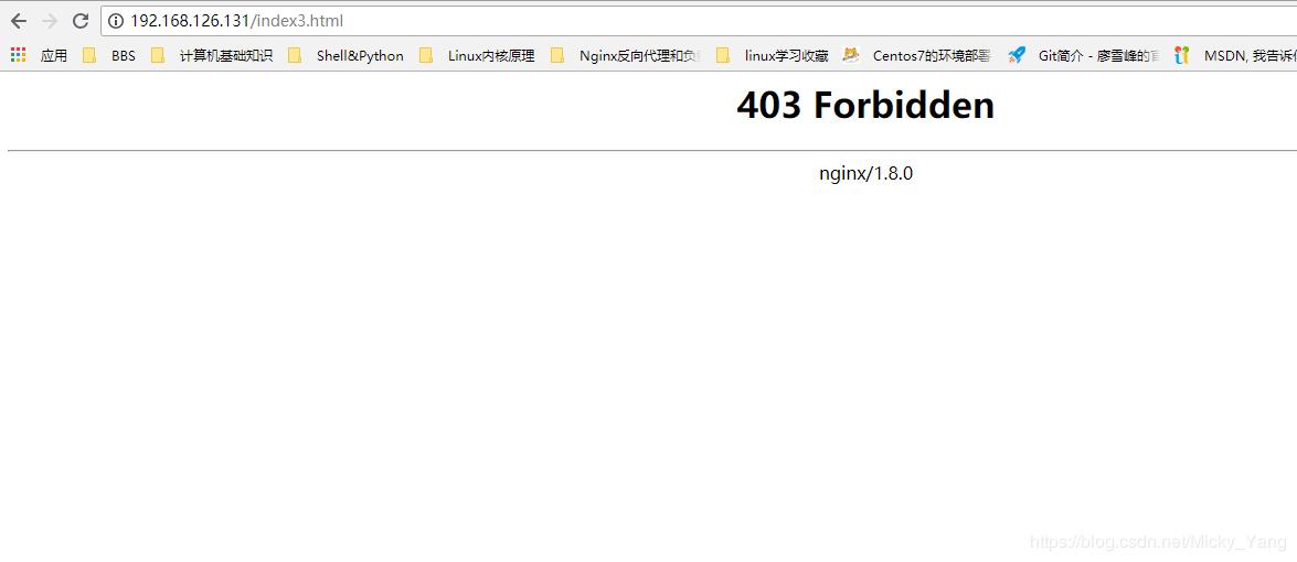 HTTP REQUEST SENT AWAITING RESPONSE    403 FORBIDDEN CENTOS