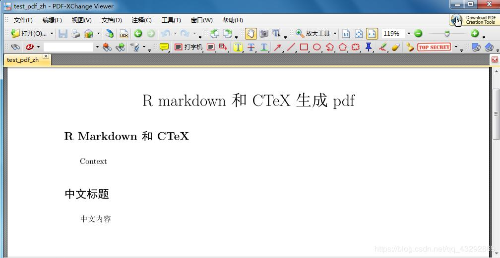 Windows system uses R markdown and LaTeX to generate basic