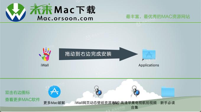 Best live wallpaper software] iWall Mac Chinese version with
