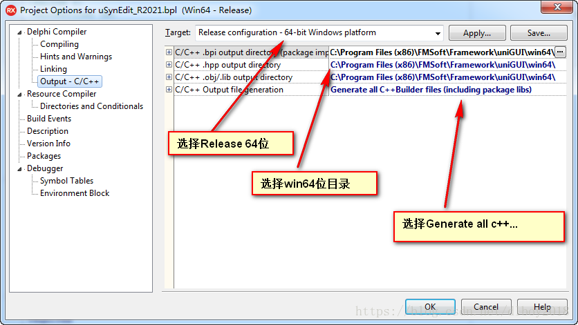 28) How to install 64-bit unigui and compile 64-bit projects under