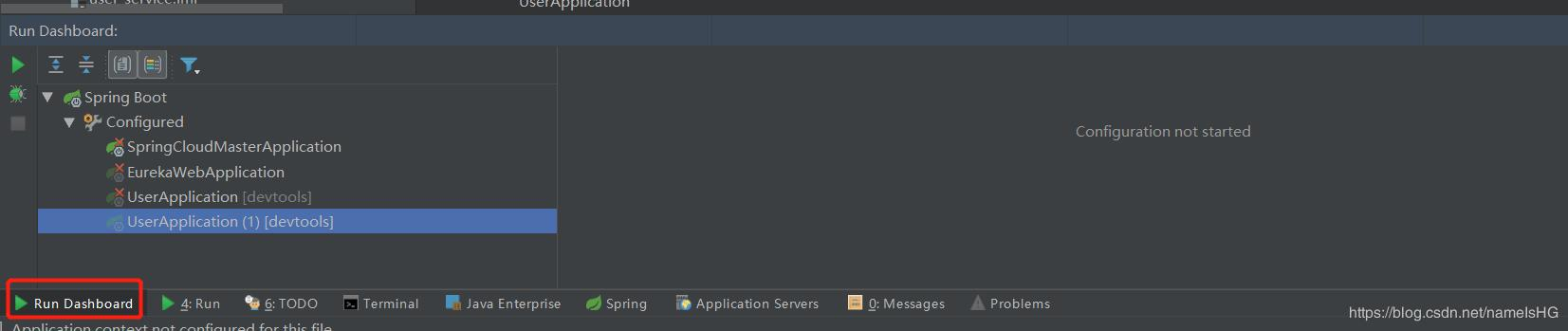 Spring Cloud's Run Dashboard panel in Intellij IDEA - Programmer Sought