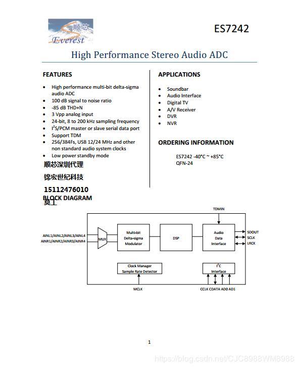 ES7241_ES7242_ES7243 (Audio ADC Stereo Audio Digital-to