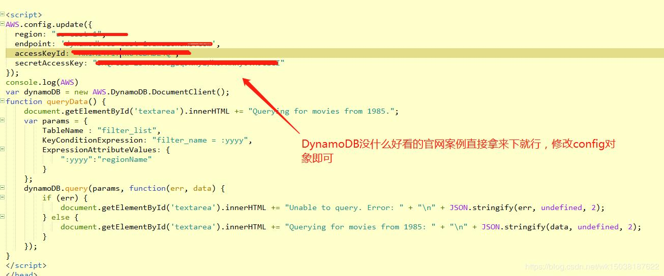 Dynamodb script