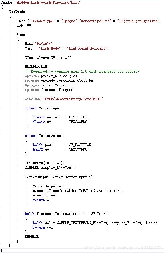 Unity3d Lightweight Rendering Pipeline (LWRP) Folk Document
