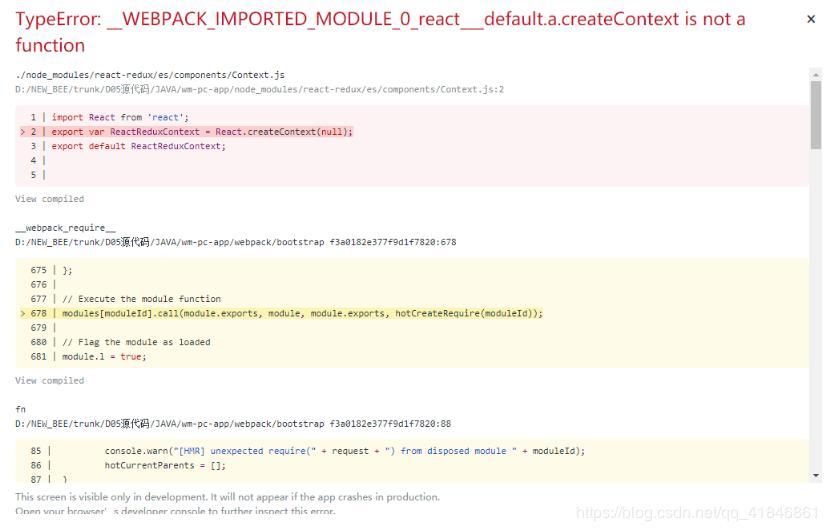 TypeError:_WEBPACK_IMPORTED_MODULE_0_react___default.a.createContext