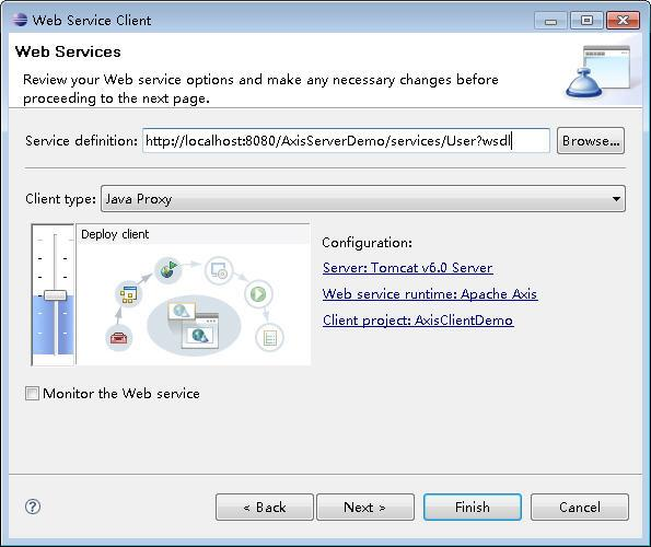 Develop web services and clients using Eclipse's Axis 1 4 plugin
