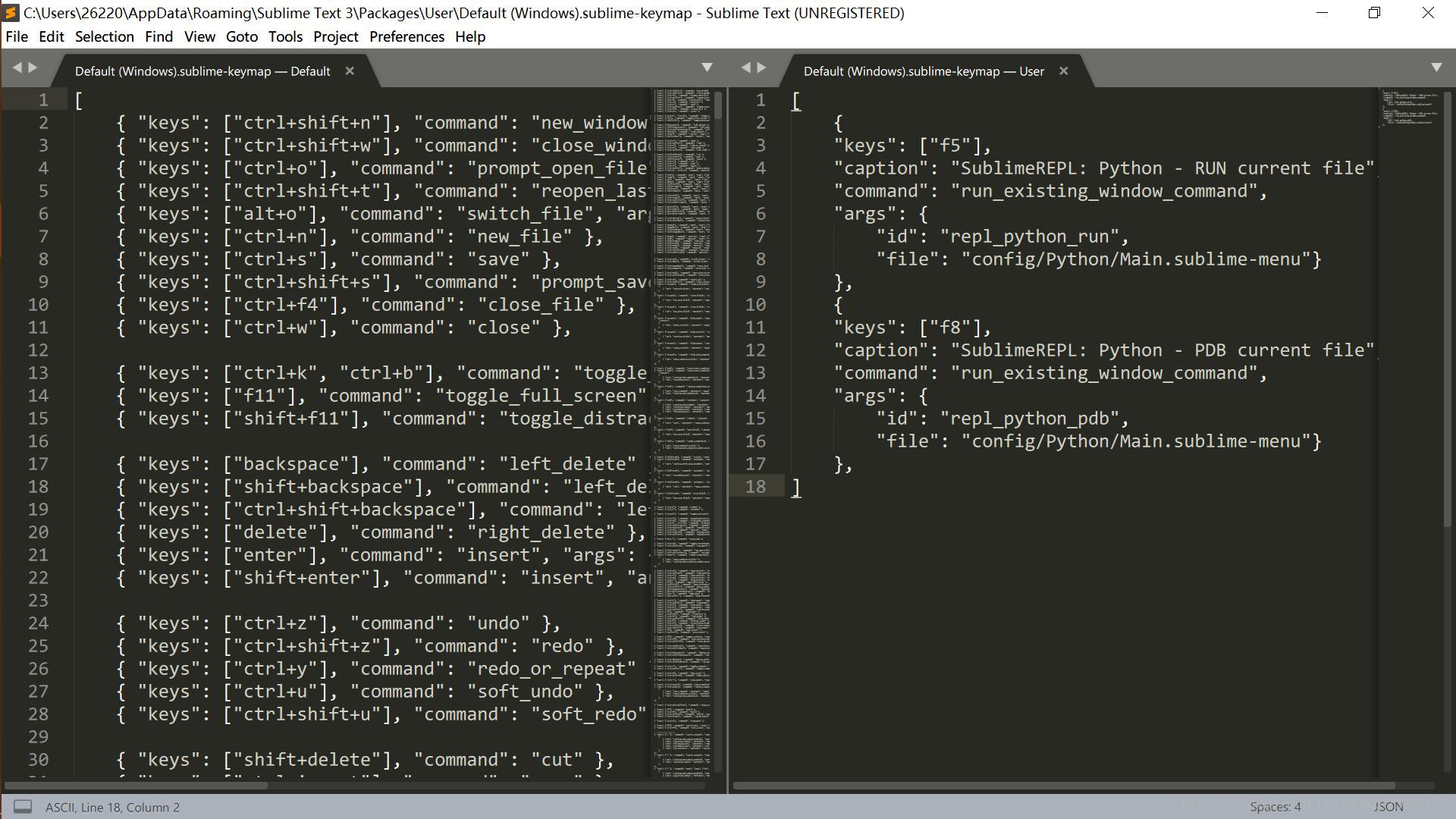 Sublime configuration python 3 environment - input