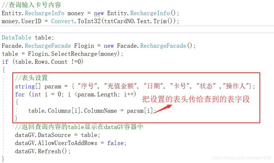 C# Refactoring] - Basic use of dataGridView - Programmer Sought