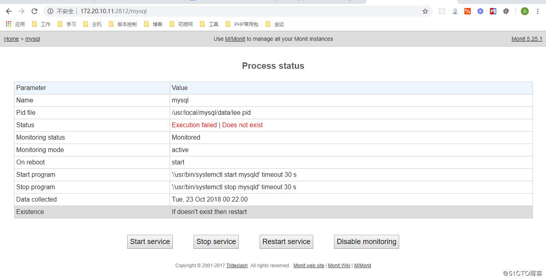 Centos7 uses monit to monitor service running status