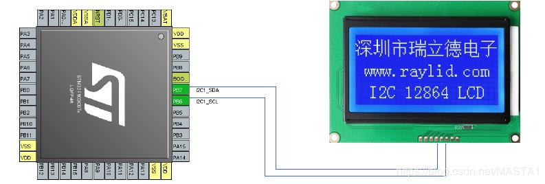 How does STM32 drive IIC interface 12864 LCD display actual