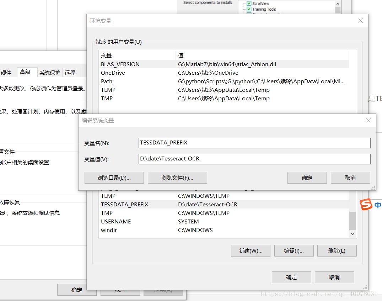 Win10 (64-bit) installation of tesseract and tesserocr problem