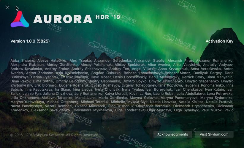 aurora hdr pro activation key