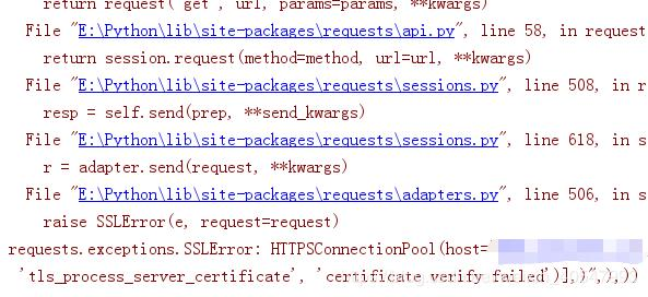 Crawler equests exceptions SSLError: HTTPSConnectionPool