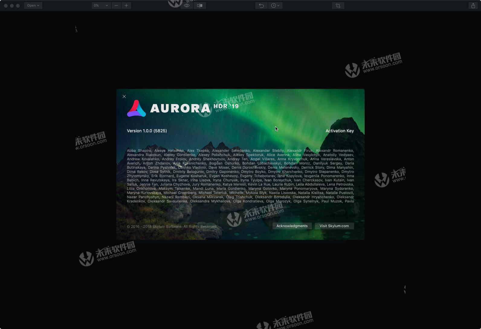HDR image post-processing software Aurora HDR 2019 mac crack version