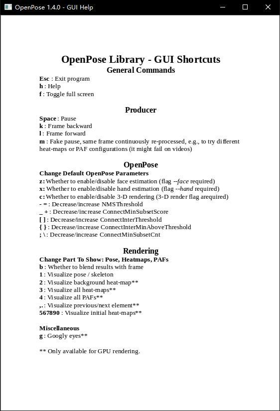OpenPose] 1  Use and interpretation of OpenPoseDemo file