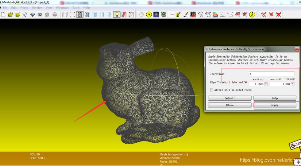 Meshlab extracts the structure point cloud of an existing 3D model