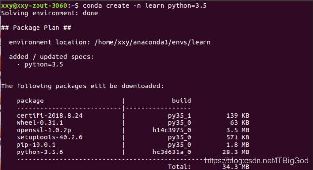 Ubuntu16 04 uses anaconda to create a python virtual environment
