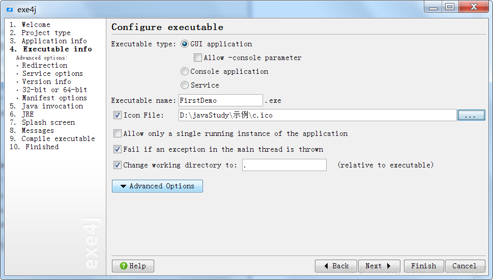 Java program to exe format - Programmer Sought