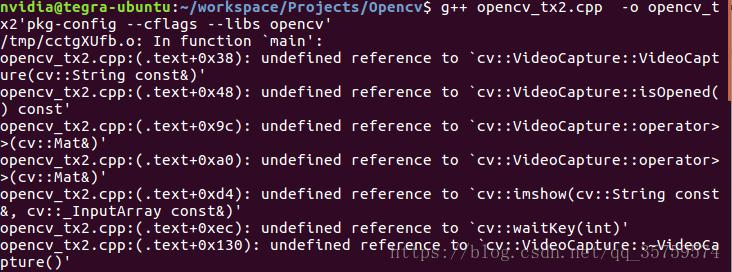 C++ call opencv failed undefined reference to `cv