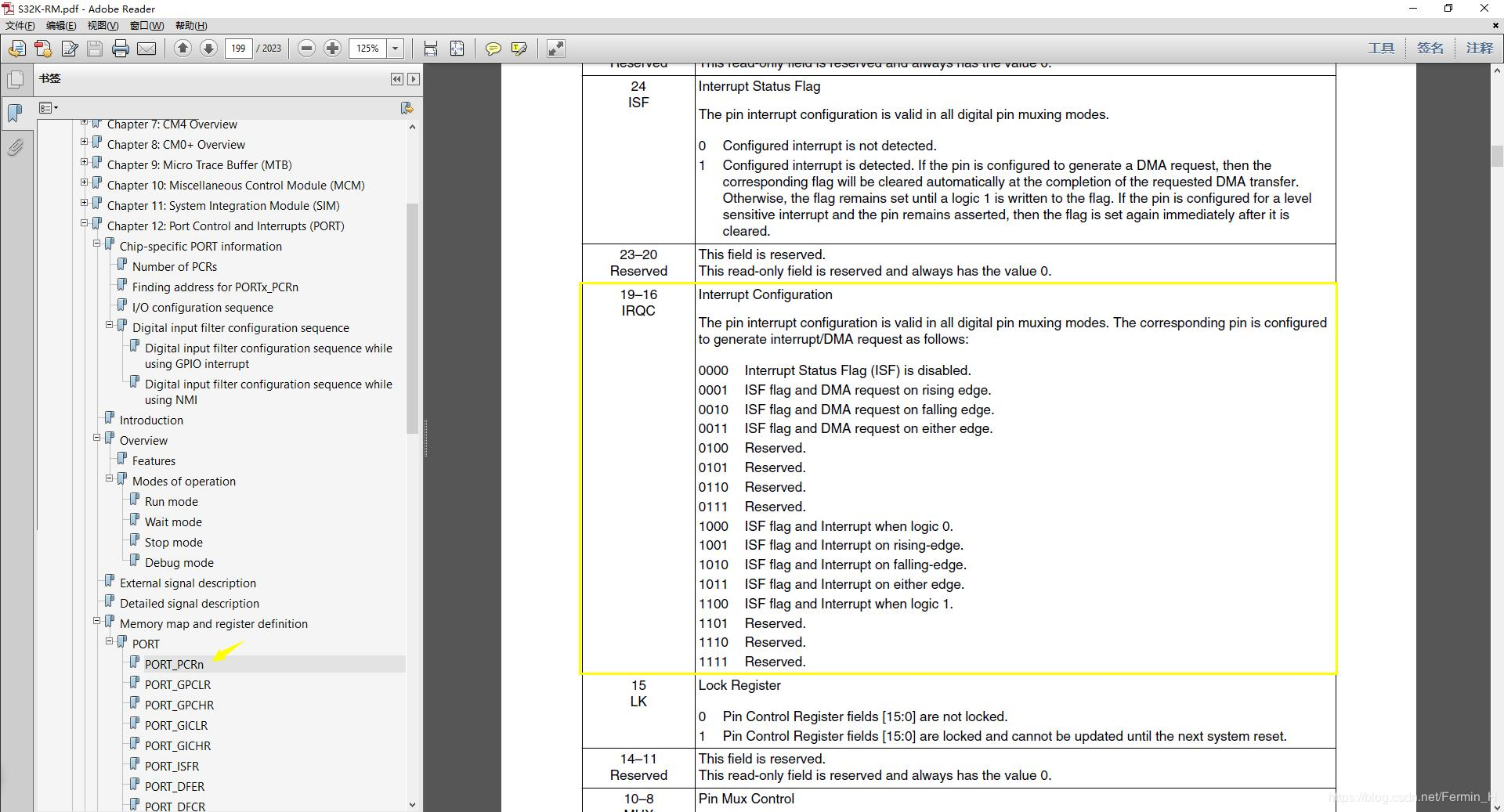 S32K Series S32K144 study notes - GPIO external interrupt