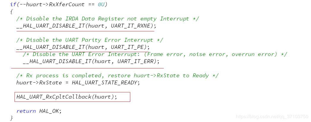 STM32Cube UART serial port interrupt receives variable