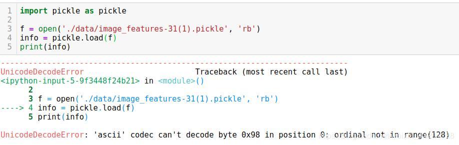 UnicodeDecodeError: python3 can't decode byte 0x98 in position 0