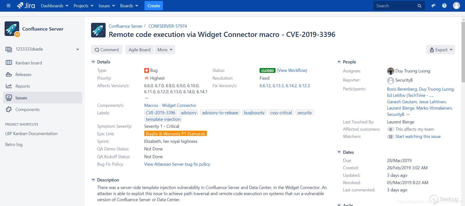 Confluence Unauthorized RCE (CVE-2019-3396) Vulnerability