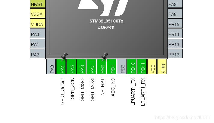 STM32L051C and LIS3DH test drive via SPI communication - Programmer